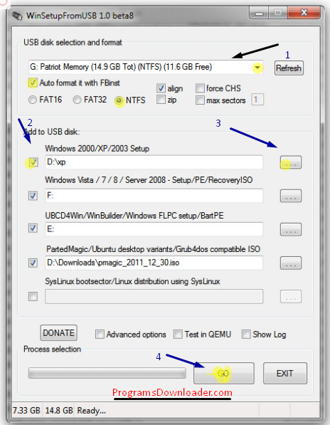 WinSetupFromUSB تحميل برنامج حرق الويندوز علي فلاشة WinSetupfromUsb تحميل برامج كمبيوتر