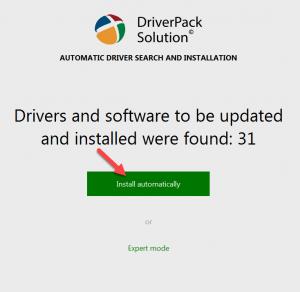 اسطوانة التعريفات driver pack solution