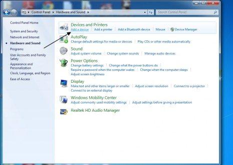 Add-adevice بالصور طريقة تعريف الصوت على ويندوز 7 تحميل برامج كمبيوتر شروحات
