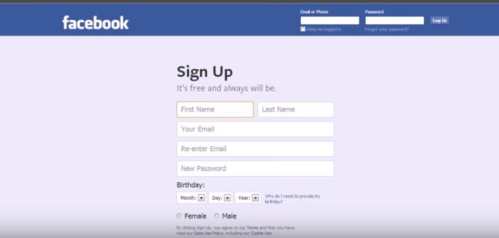 -الثانية-في-التسجيل-من-جديد-facebook-1 تحميل برنامج Facebook مع شرح إمكانية عمل حساب جديد شروحات