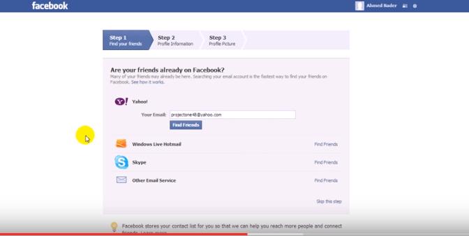 -الخامسة-التسجيل-من-جديد-facebook تحميل برنامج Facebook مع شرح إمكانية عمل حساب جديد شروحات