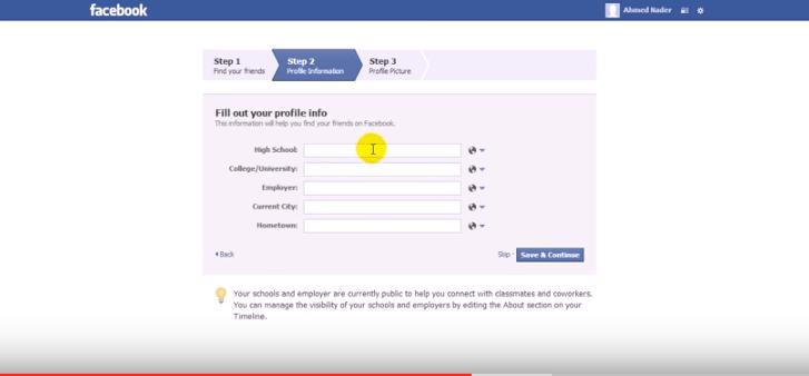 -السادسة-التسجيل-من-جديد-facebook تحميل برنامج Facebook مع شرح إمكانية عمل حساب جديد شروحات