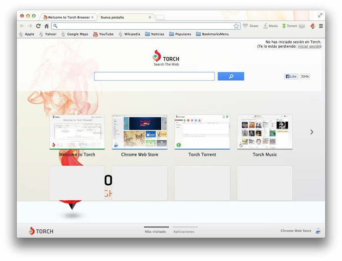 -تورش تحميل متصفح تورش Torch Browser للكمبيوتر مجاناً برامج كمبيوتر برامج نت