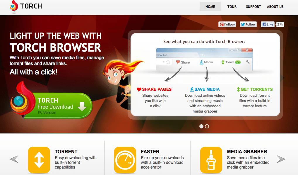 Torch-Browser-1 تحميل متصفح تورش Torch Browser للكمبيوتر مجاناً برامج كمبيوتر برامج نت