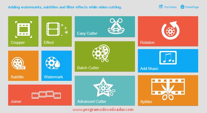 برنامج تحرير الفيديو يعمل علي تقطيع الفيديو بكافة الصيغ المختلفة
