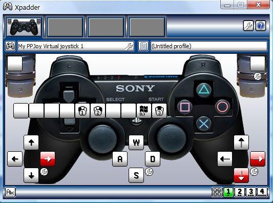 xpadder هو برنامح يعمل علي تزامن يد البلايستيشن مع الكمبيوتر