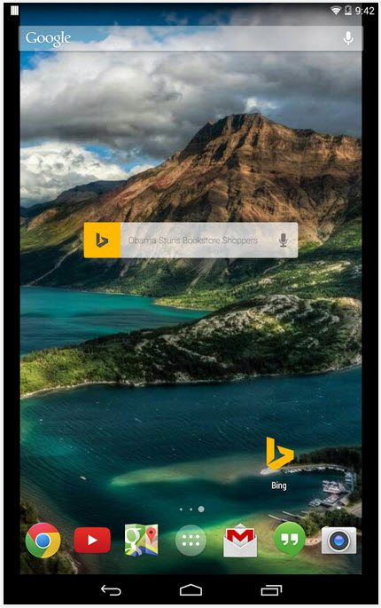 Bing-for-Android تحميل متصفح بنق Bing للكمبيوتر والأندرويد والآيفون مجاناً برامج اندرويد تحميل برامج كمبيوتر