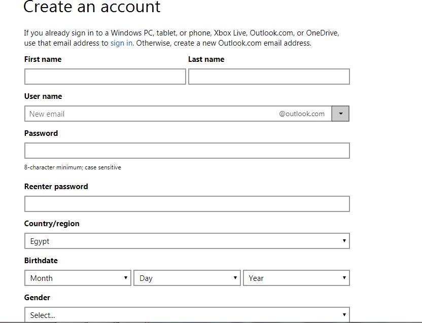 انشاء حساب هوتميل